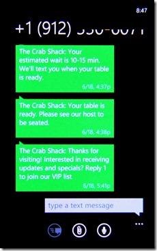 SMS Screenshot 2